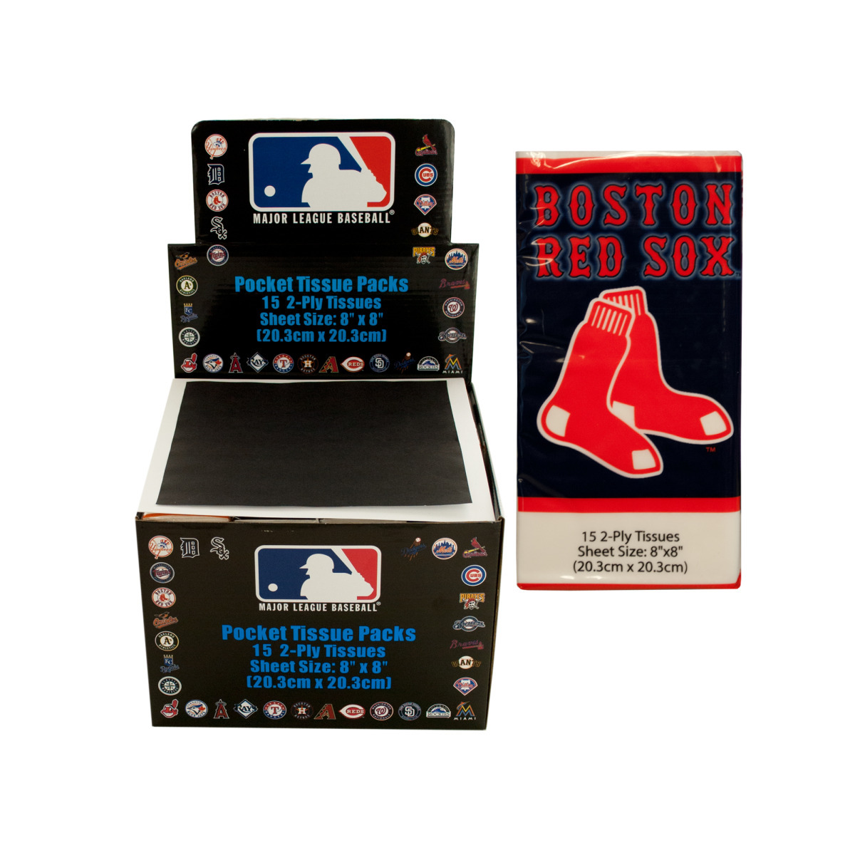Boston RED SOX Pocket Tissues Countertop Display [1944467]
