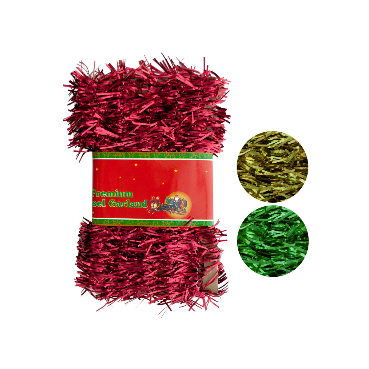 Wholesale christmas tinsel garland sku dollardays