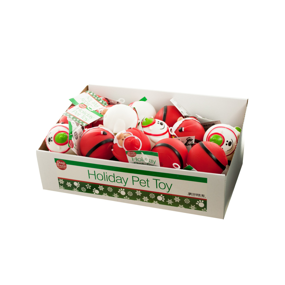 Holiday Squeaky Dog Ball TOYS - 36 Count (1943762)