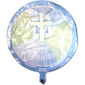 Blue Christening Balloon