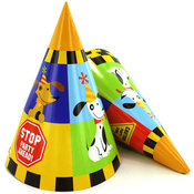 8 Pack Rescue Pals Party Hats