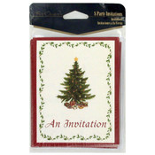8-Pack Vintage Christmas Invitations Wholesale Bulk