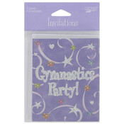 Girl Time Gymnastics 8 Count Invitations