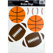 6-Pack Sport-Themed Clings Wholesale Bulk