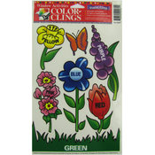 Learning Colors Flower Theme Window Clings Wholesale Bulk