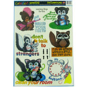 Children's Window Clings, Learning Manners Wholesale Bulk