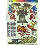 4th of July Independence Window Clings Wholesale Bulk