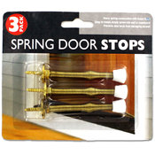 sterling 3-Pack Spring and Rubber Door Stoppers Wholesale Bulk