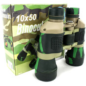 Camouflage Binoculars with Compass and Pouch Wholesale Bulk