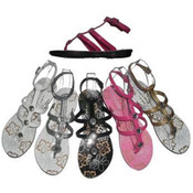 Ladies Gladiator Sandal (Asst Colors)