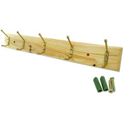 5 Hook Wooden Rack