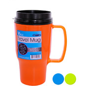 16 Oz. Thermal Travel Mug- Asst Colors Wholesale Bulk
