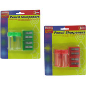3 Pack Pencil Sharpeners