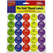 250-Pack Round Garage Sale Price Stickers Wholesale Bulk