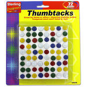 sterling 72-Pack Colorful Metal Thumbtacks Wholesale Bulk