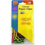 sterling 50-Pack Colored Paper Clips Wholesale Bulk