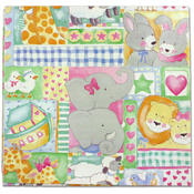 Baby Animal Theme Flat Gift Wrap Wholesale Bulk
