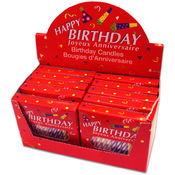 24 Piece Birthday Party Candles (12 Packs Per Disp