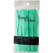 24-Pack Sea Green Heavy Duty Plastic Knives Wholesale Bulk