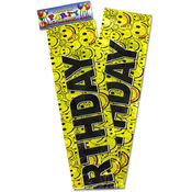 Happy Face Birthday Banner
