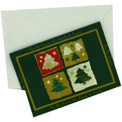 Evergreen And Gold Photo Christmas Cards