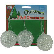 3 Pack Christmas Ornament Balls
