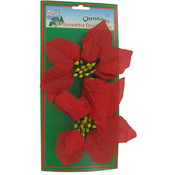 2Pk Red Poinsettia