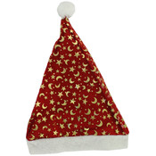 Santa Hat with Gold Decoration