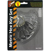 8 Pack Metric Hexagonal Key Set