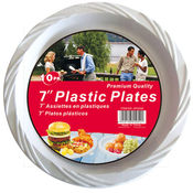 10-Pack 7' White Plastic Plates Wholesale Bulk