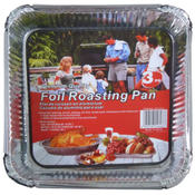 Square Disposable Foil Roasting Pans, Pack of 3