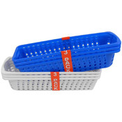 Rectangular Plastic Baskets, Pack of 3