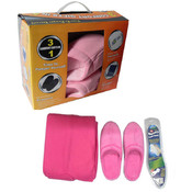 Adult Slipper and Blanket Set
