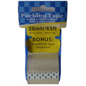 Packing Tape, 65 Feet W/Bonus Tape Dispenser