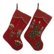 "19"" Red Christmas Stockings"