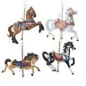 Resin Carousel Horse Ornament Wholesale Bulk
