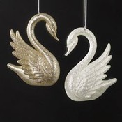 4' Gold/Silver Acrylic Swan Ornament Wholesale Bulk