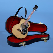 Kurt S. Adler, Inc. 5.5' Elvis Acoustic Guitar w/Case Ornaments Wholesale Bulk