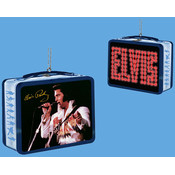 Kurt S. Adler, Inc. 3.18' Elvis Mini Tin Lunch Box Ornaments Wholesale Bulk