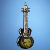 Kurt S. Adler, Inc. 5' Glass Elvis Image Guitar Ornaments Wholesale Bulk