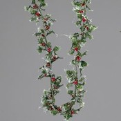9' Mini Silver Holly Garland