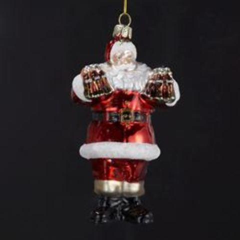 COCA-COLA(R) Glass Santa Ornament (1911659)