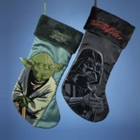 STAR WARS? Yoda & Darth Vader Applique Stocking - 2 Assorted (1914890)