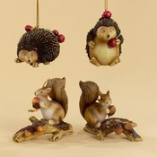 3.5-4' Squirrel/Hedgehog Ornaments Wholesale Bulk