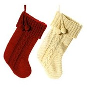 "20"" Heavy Knitted Yarn Stocking"