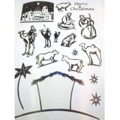 Nativity Scene Window Clings Wholesale Bulk