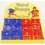 musical messages gift boxes for Graduation & A+ Teacher with display