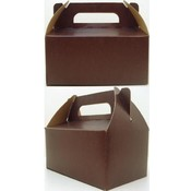 Gable Tote  Box - Brown