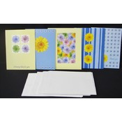 Sunflower Note Cards with Envelop - 10qty per pack Wholesale Bulk