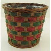 "4.5"" X 5"" Handmade Wood  Wicker Basket"